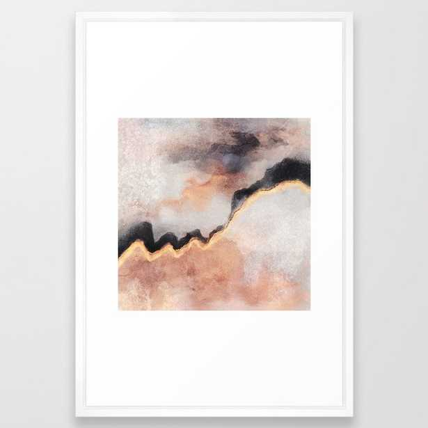 Path Framed Art Print by Elisabeth Fredriksson - Vector White - LARGE (Gallery)-26x38 - Society6