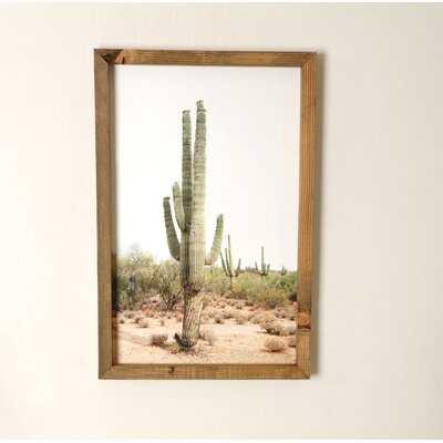 Desert Cactus - Picture Frame Photograph Print - Wayfair