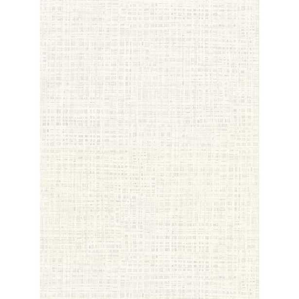 Warner 8 in. x 10 in. Montgomery White Faux Grasscloth Wallpaper Sample - Home Depot