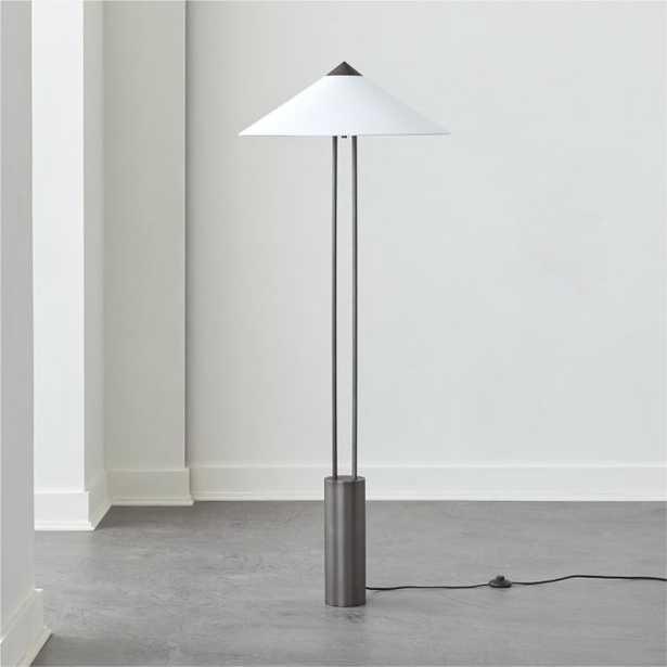 Staccato Gunmetal Floor Lamp - CB2