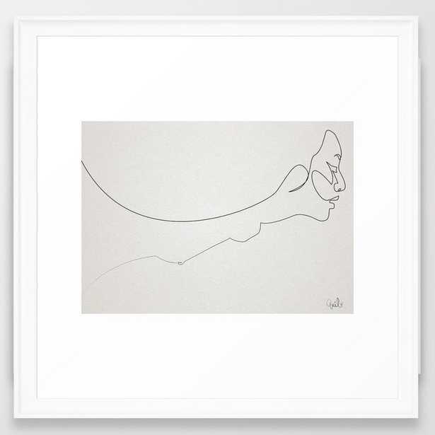 Amaterasu Framed Art Print by Quibe - Scoop White - MEDIUM (Gallery)-22x22 - Society6