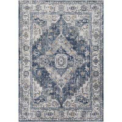 Preetesh Oriental Gray/Blue Area Rug - Wayfair
