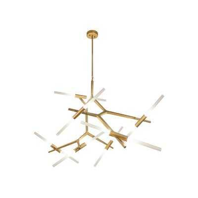 Cybill 14-Light Sputnik Modern Linear Chandelier - Wayfair