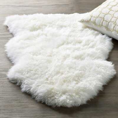 Noverty Sheepskin White Area Rug - AllModern