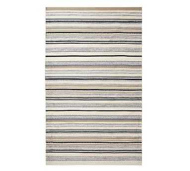 Peterson Striped Eco-Friendly Rug, 8' x 10', Neutral Multi - Pottery Barn