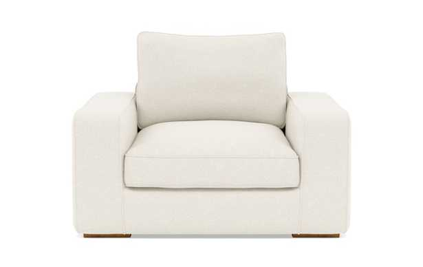Ainsley Accent Chair with White Cirrus Fabric and Natural Oak legs - Interior Define