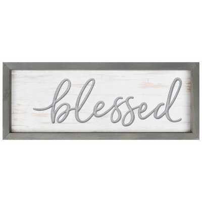 ' Blessed Framed & Carved Art ' Picture Frame Graphic Art on Wood - Wayfair