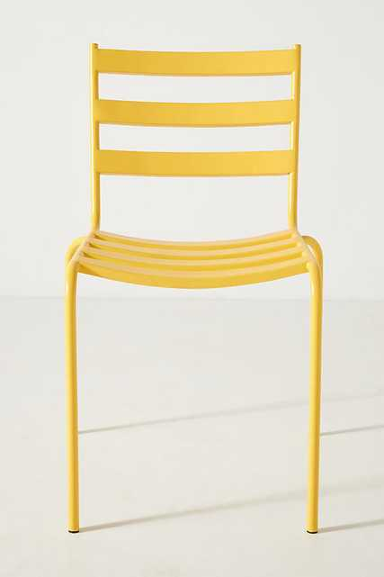 Alsace Outdoor Garden Chairs, Set of 2 By Anthropologie in Yellow - Anthropologie