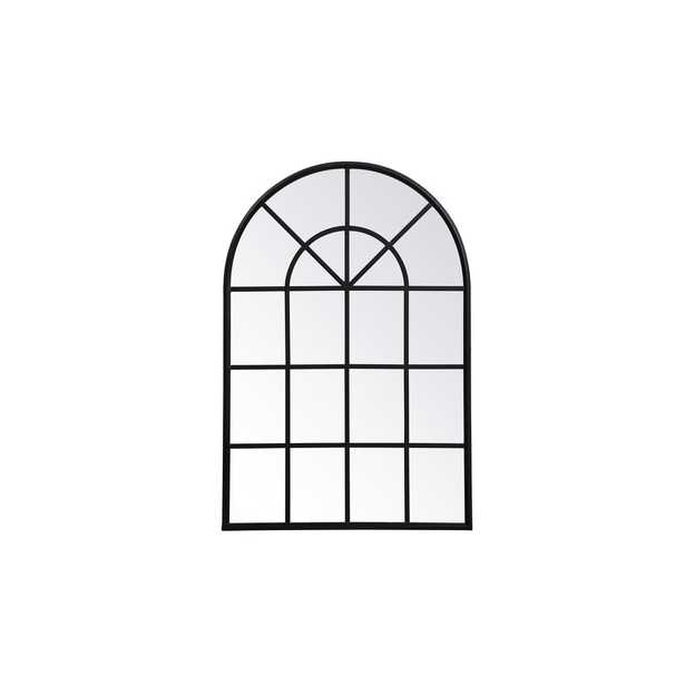 "Elegant Furniture Timeless Home 41.5""H X 28""W Midcentury Modern Window Metal Wall Mirror in Black - Home Depot"