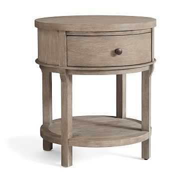 Toulouse Round Nightstand, Gray Wash - Pottery Barn
