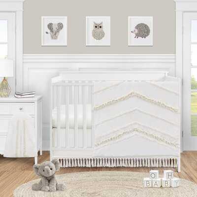 Fringe 4 Piece Crib Bedding Set - AllModern