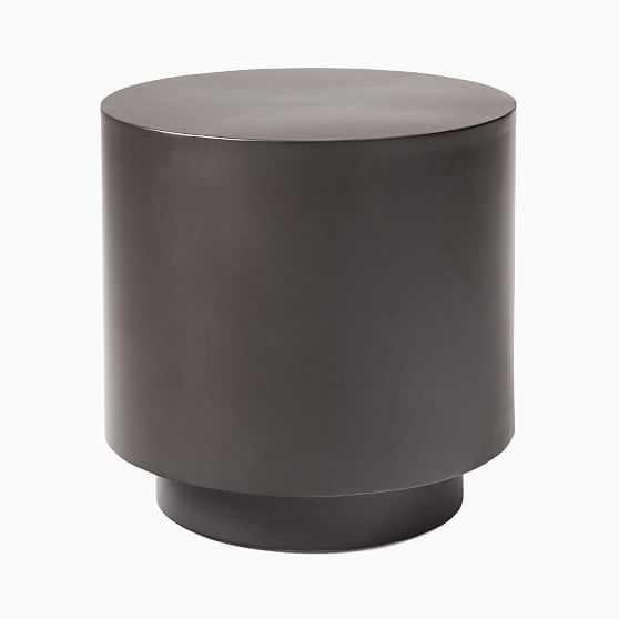 Tucker Round Drum Side Table Antique Bronze - West Elm