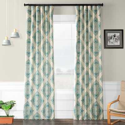 Axtell Geometric Room Darkening Rod Pocket Single Curtain Panel - Birch Lane