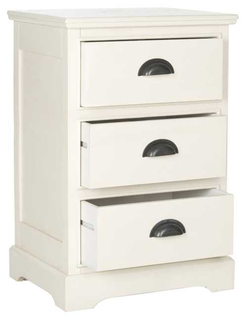 Griffin 3 Drawer Side Table - White - Arlo Home - Arlo Home