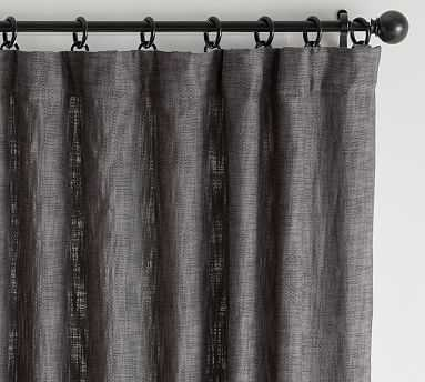 """Seaton Textured Curtain, 50 x 96"""", Charcoal - Pottery Barn"""