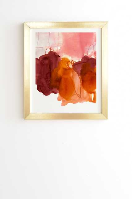 """Abstract Painting X by Iris Lehnhardt - Framed Wall Art Basic Gold 19"""" x 22.4"""" - Wander Print Co."""