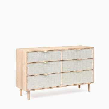 Ella Capiz 6 Drawer Dresser, Washed Oak/Capiz - West Elm