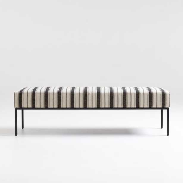 Pax Black Natural Bench - Crate and Barrel