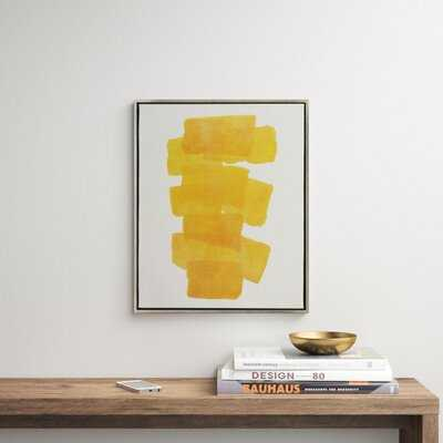 Framed Painting Print on Canvas in Yellow - AllModern
