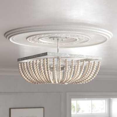 "Emilia 4 - Light 17"" Chandelier Style Bowl Semi Flush Mount - Wayfair"