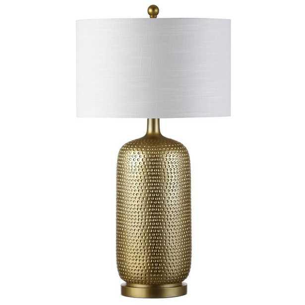 JONATHAN Y Sophia 30 in. Gold Resin Table Lamp - Home Depot