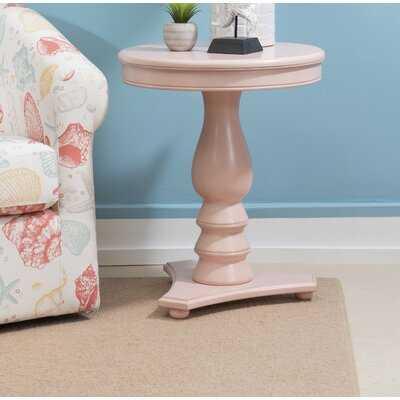 Dollison Pedestal End Table with Storage - Wayfair