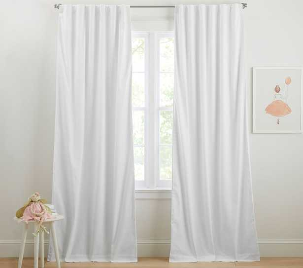 Soothing Sleep Noise Reducing Blackout Curtain, 84 Inches, White, Set of 2 - Pottery Barn Kids