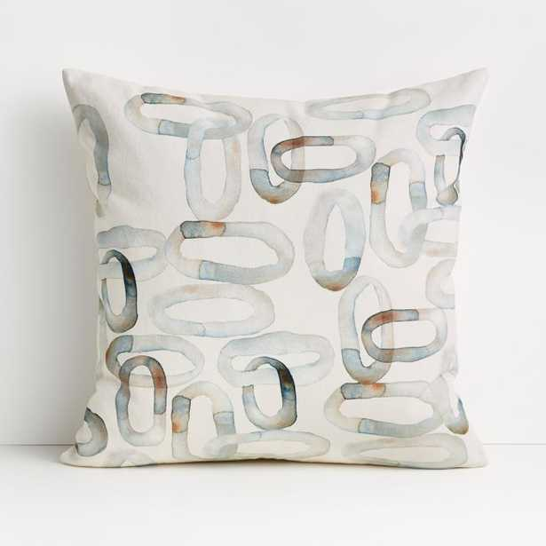 """Liotti 20"""" Watercolor Pillow with Down-Alternative Insert - Crate and Barrel"""