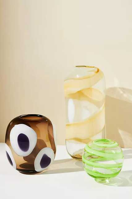 Rounded Glass Vase By Anthropologie in Assorted Size S - Anthropologie
