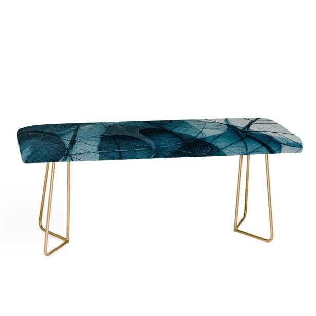 Ingrid Beddoes Denim blue Bench - Gold Aston Legs - Wander Print Co.