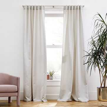 "Ripple Jacquard Curtain, Gray Fog, 48""x96"" - West Elm"