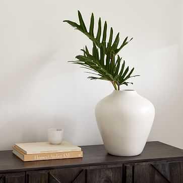 Pure White Ceramic Vase, Pot, White - West Elm