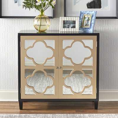Musselwhite 2 Door Mirrored Accent Cabinet - Wayfair