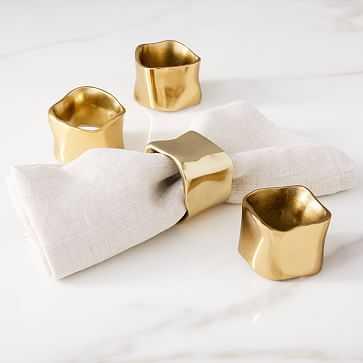 Napkin Ring, Polished Brass, Set of 4 - West Elm