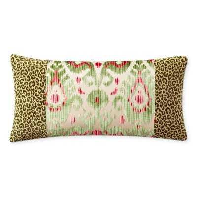 "Scalamandre Tashkent Pillow Cover, 15"" X 30"", Green - Williams Sonoma"