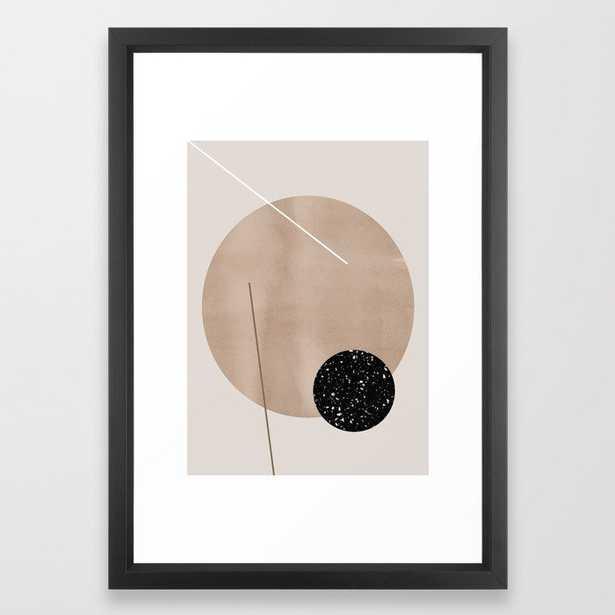 Minimalist Geometry 7y Framed Art Print by Mareike BaPhmer - Vector Black - SMALL-15x21 - Society6