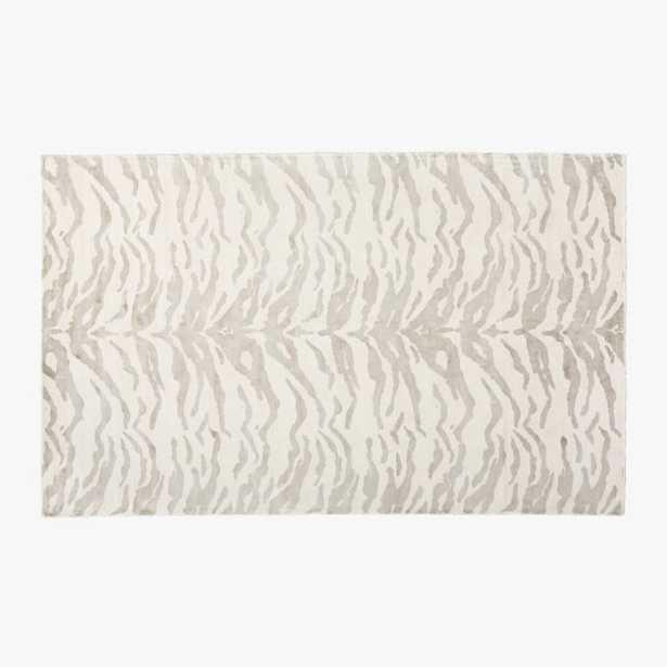Rajah Viscose Zebra Print Rug 8'x10' - CB2