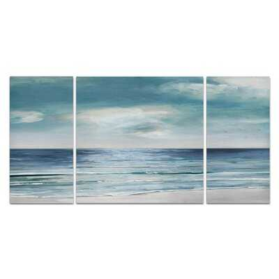 A Premium 'Blue Silver Shore' Painting Multi-Piece Image on Canvas - Wayfair