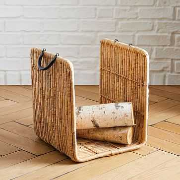 Woven Seagrass Log Basket, Medium - West Elm