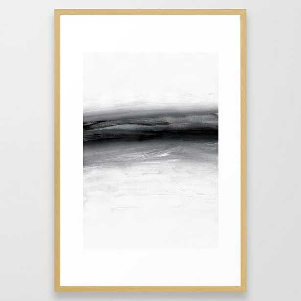 Minimal A1 Framed Art Print by Georgiana Paraschiv - Conservation Natural - LARGE (Gallery)-26x38 - Society6