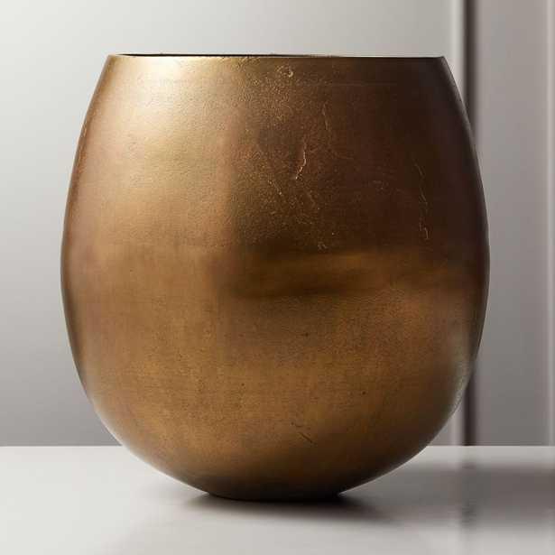 Rough Cast Small Brass Planter - CB2