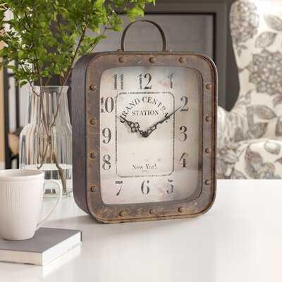 Rustic Analog Table Clock - Wayfair