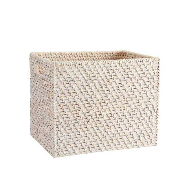 Whitewash Storage Bins, Medium - Pottery Barn Teen