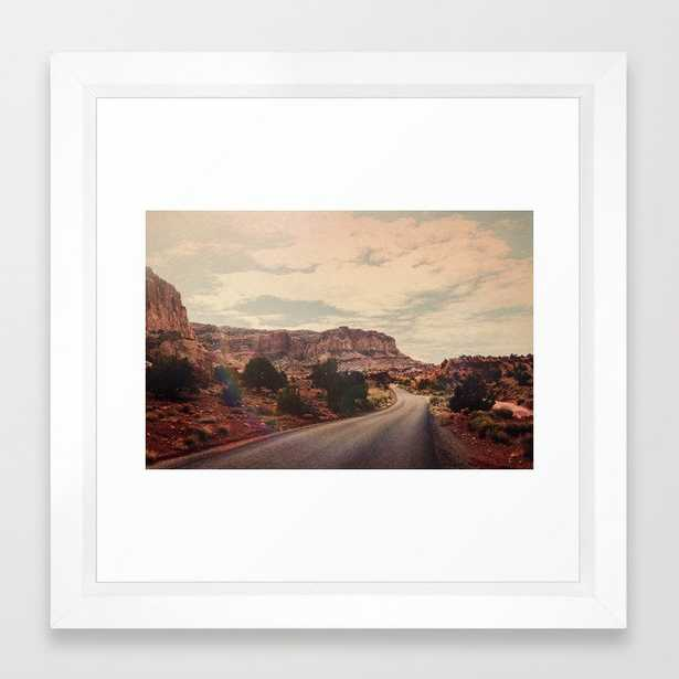 Desert Solitude Framed Art Print by Leah Flores - Vector White - X-Small-12x12 - Society6