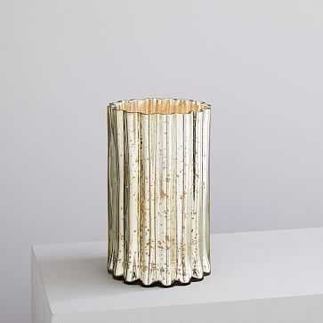 Decorator Mercury Hurricanes, Scalloped, Light Gold - West Elm