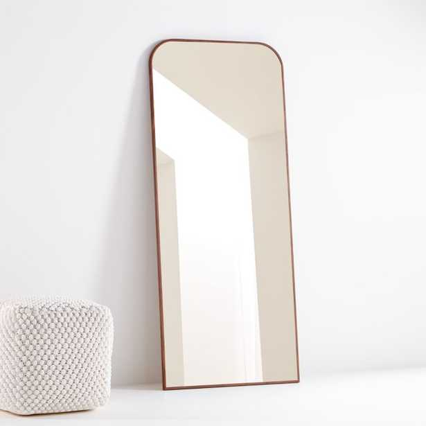 Edge Walnut Arch Floor Mirror - Crate and Barrel