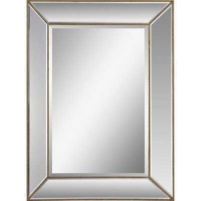 Kearsarge Gold Beaded Rectangular Frame Wall Mirror - Wayfair