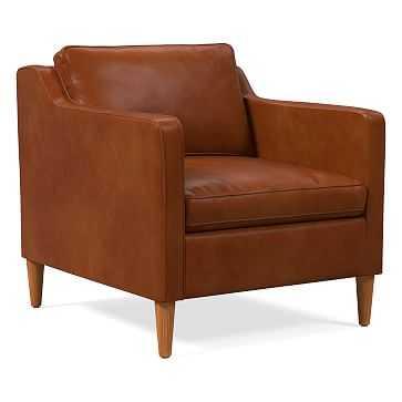 Hamilton Chair, Poly, Vegan Leather, Saddle, Almond - West Elm