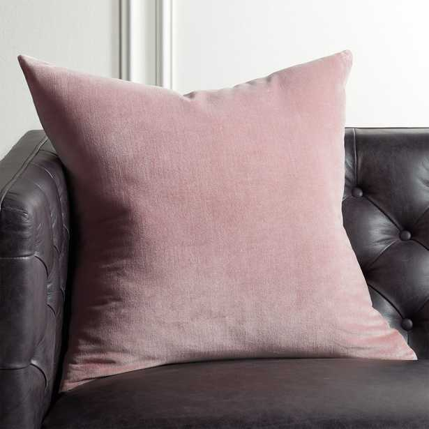 """23"""" Leisure Dusty Orchid Pillow with Down-Alternative Insert - CB2"""