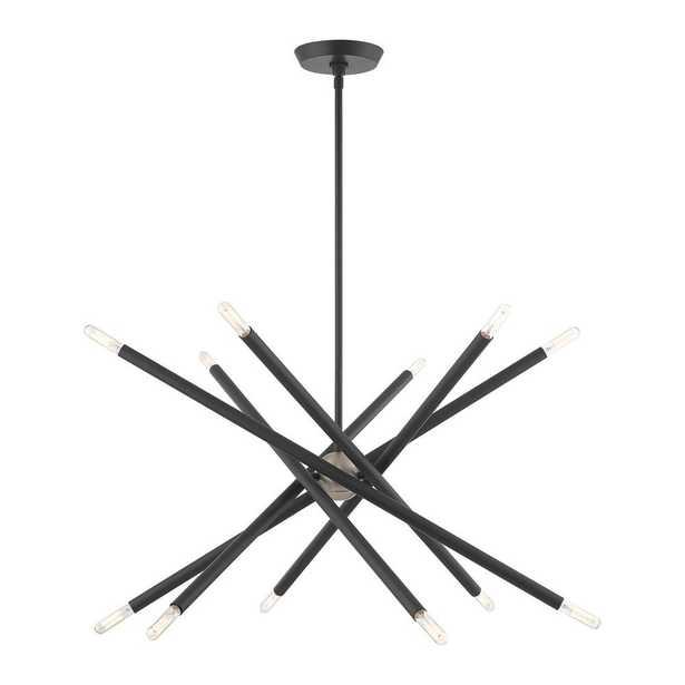 Livex Lighting Soho 12-Light Scandinavian Gray Chandelier - Home Depot
